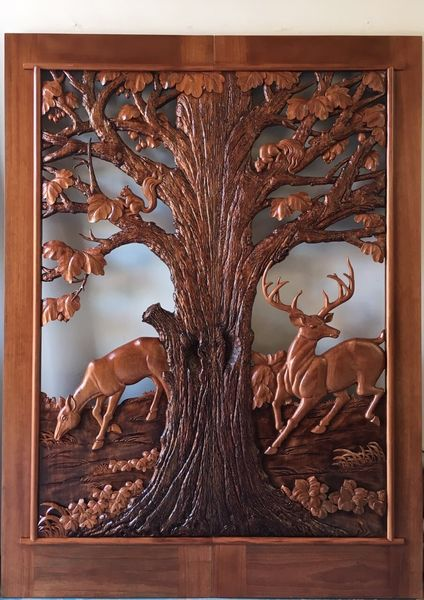 DEER TREE DOOR WITHOUT SIDELIGHTS